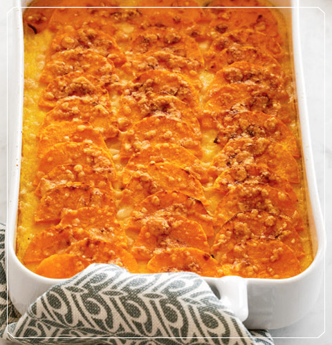 Butternut Squash and Polenta Gratin