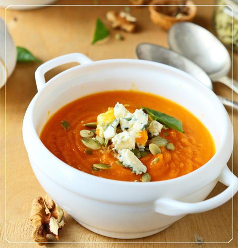 Pumpkin Blue Cheese Soup