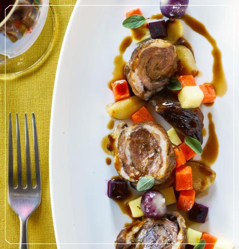 Braised Lamb, Root Vegetable Sugo