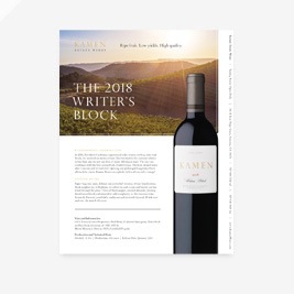 2018 Writer's Block Wine Note
